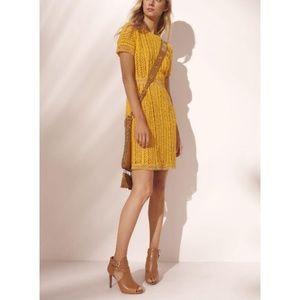 Michael Kors // Chrochet Lace Taxi Yellow Dress